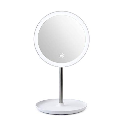 Benkeg Miroir Maquillage Lumineux - Miroir Cosmétique de Miroir de Maquillage de Lampe de Table de Miroir de Maquillage de Mode de Rotation 360 ° de Luminosité Réglable