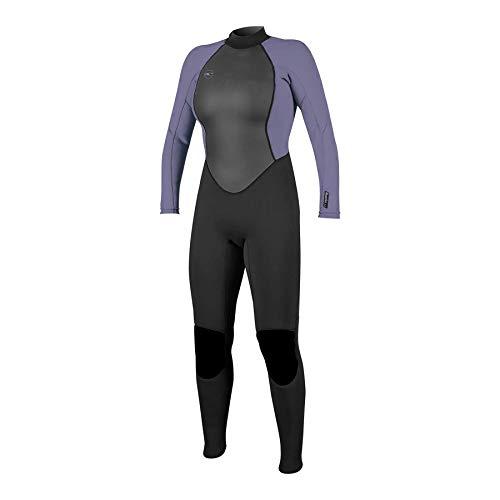O'Neill Damen Reactor II 3/2mm Back Zip Full Wetsuit Neoprenanzug, Black/Mist, 8