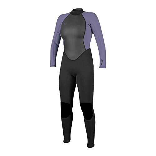 O'NEILL Reactor II 3/2mm Back Zip Full Wetsuit Traje húmedo, Mujer, Negro/Niebla, 8