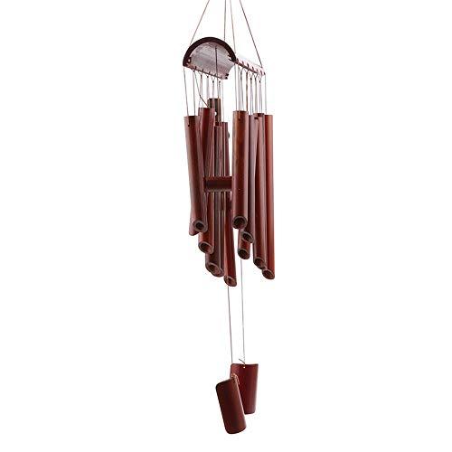 3°Amy Carillons Carillon Vent éoliens eolien Bells Vent en Bois créatif Salon Grand Bambou Chimes Ornements Filles Chambre Pendentif Artisanat