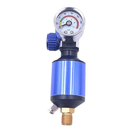 IPOTCH Trampa de filtro de humedad del compresor de aire, lubricador regulador separador de agua de aceite ajustable - Negro