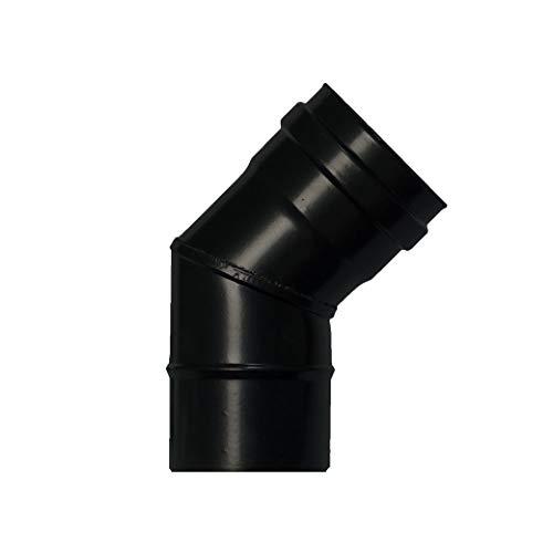 WOLFPACK LINEA PROFESIONAL 22013100 Codo Estufa Pellet Vitrificado Ø80 mm 45°