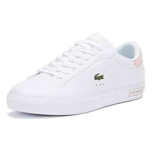 Lacoste Sport Damen Powercourt 0721 2 SFA Sneaker, Wht/Lt Pnk, 36 EU