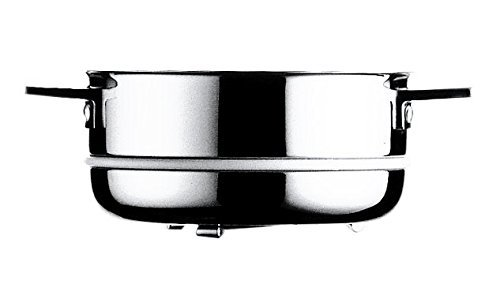 Mepra Attiva Inserto Cuociverdura, 22 cm, Trimetallo Acciaio Inossidabile 18/10, Alluminio e Rame