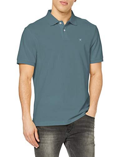 Hackett London Slim Fit Logo Camisa polo, Gasolina 5eqlt, L para Hombre