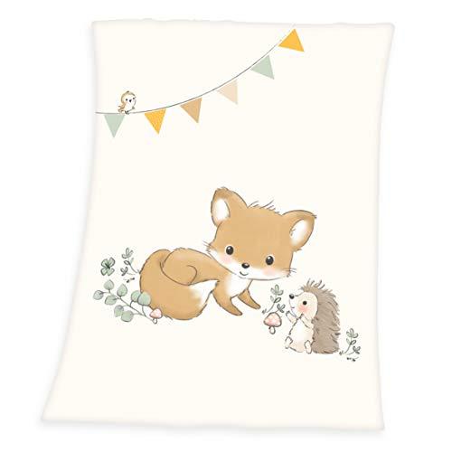 Herding Baby Best Microfaserflausch-Decke, Polyester, beige, 75 x 100 cm