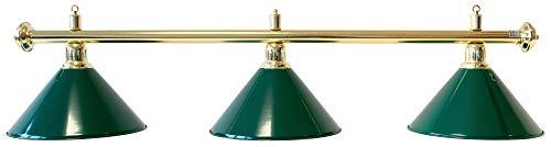 Classic Billard Lampe Evergreen, grün, 3 Schirme, Ø 35 cm, 112 cm
