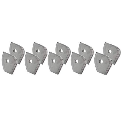 AmyGline Outdoor-Sport-Maske-Mundschutz mit 6 Aktivkohlefilter,Staubdicht,Anti-beschlag,Wiederverwendbare,Waschbare,Austauschbarer-Filter,für Laufen (One Size, 10-Filter)