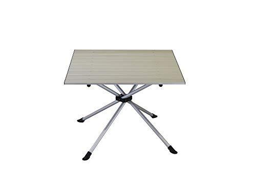 Portail extérieur Unisexe Porto Table de Camping Pliable, Gris, 60 x 60 x 45 cm