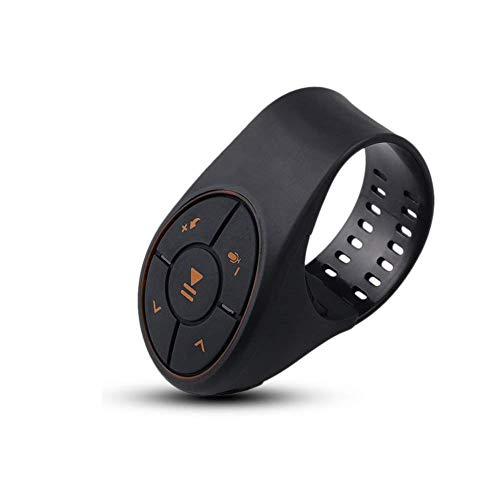 Bluetooth Steering Wheel Volume Controller KEBIDU Watchband Style Wireless Remote for Motorcycle Bike Handlebar for iPhone iOS Samsung Android(4.0 or Later) Single Finger Operation
