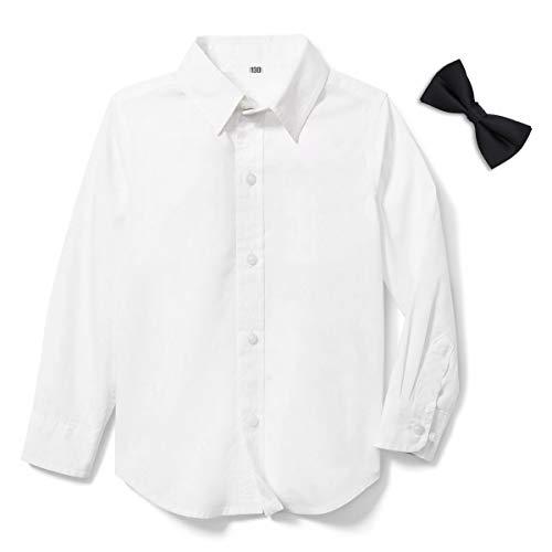 LOLANTA Jungen Langarmhemd Junior Oberhemd Oxford Hemden Kommunionhemd,Slim Fit (146/152)