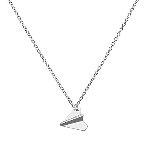Fayme Fashion One Direction - Collar de avión de papel (plata)