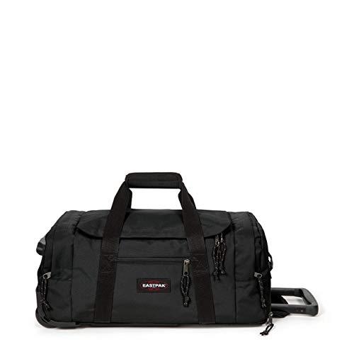 Eastpak Leatherface S + Bolsa de viaje, 55 cm, 41 liters, Negro (Black)