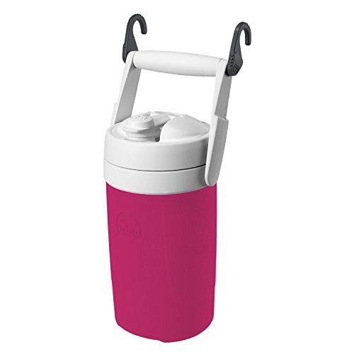 Igloo 1/2 Gallon Sports Jug, Pink/White, Model: 00041670