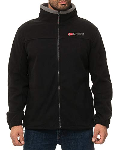 Geographical Norway Herren Fleecejacke Tamazonie Men Black - Dark-Grey L