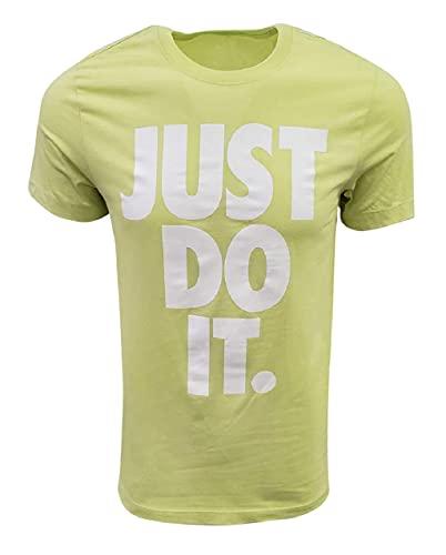 Nike Men's Just Do It Big Logo T-Shirt (Small, Lime Green)