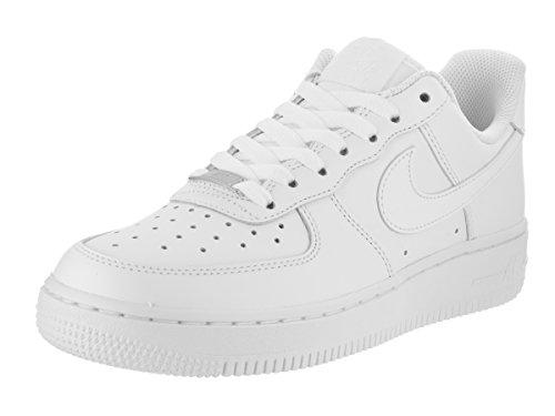 Nike Women's NIKE WMNS AIR FORCE 1 '07 BASKETBALL SHOES 9.5 (WHITE/WHITE)