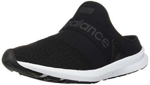 New Balance Women's FuelCore Nergize Mule V1 Alternative Closure Sneaker, Black/Magnet, 10 W US