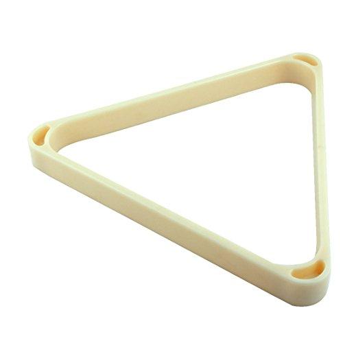 Generic Plastic American Billiard Table Pool Ball Frame Thick Triangle Rack Holder Beige