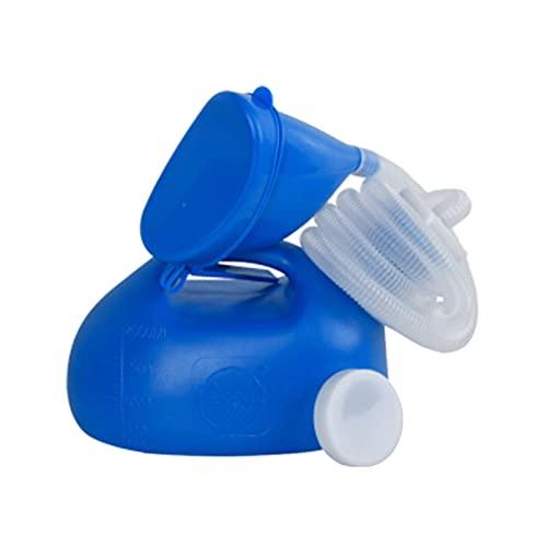 MWJRBD Urinarios para Hombres y Mujeres con Boca de plástico Blando Engrosada Urinarios de Coche multifuncionales de 2000 ml para Ancianos y niños Personas perezosas Inodoro para Acampar