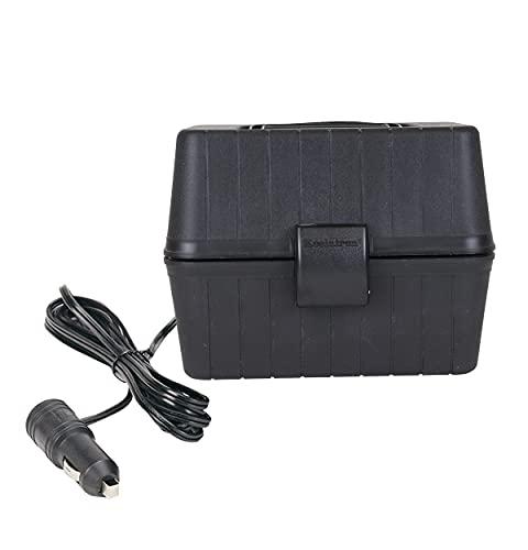 Koolatron 12V Black Heating Lunch Box Stove AZ 1.6 Qt (1.5 L), Classic Construction Worker Lunchbox for Car, SUV, Truck, RV, Boat