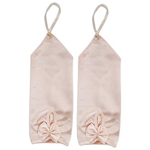 Amosfun 1 par de guantes de novia de satén, para mujer, años...