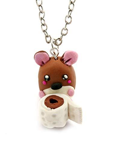 schmuck-stadt Damen Kette Modell Toilettenpapier Hamster 60 cm Handmade