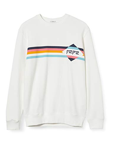 Pepe Jeans GUSTAPH Sudadera, Marfil (Off White 803), Small para Hombre