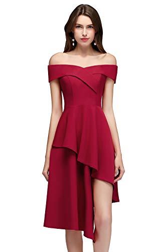 MisShow Damen elegant Festliches Prom Kleid für Hochzeit Abiballkleider Kurz Ballkleider Abendkleid...