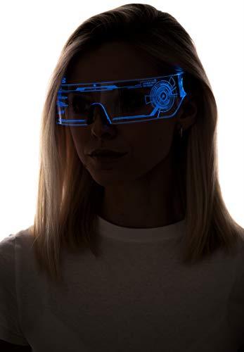 Cyberpunk LED Visor Glasses - Perfect For Cosplay and Festivals - Cybergoth - Cyberpunk Glasses Goggles HTC02
