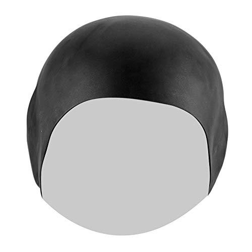 Gorro De Natación, Sombrero De Natación De Pelo Largo Durable Resistente Al Desgaste E Inofensivo para Nadar(Negro)