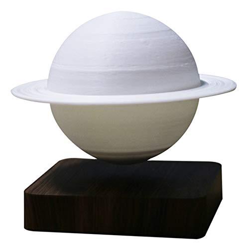 SODIAL LevitacióN MagnéTica 3D Saturno Luz Nocturna LáMpara Flotante LED Giratoria DecoracióN del Hogar Sala de Estar Dormitorio Enchufe de la UE