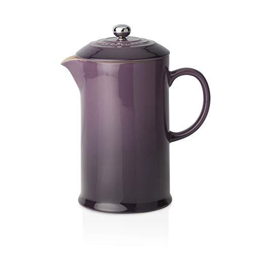 LE CREUSET - Cafetera de émbolo de gres, 750 ml, Color Cassis