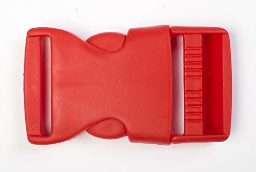 Jajasio 10 STK. Gurtband-Steckschließer für Gurtband Klickverschluss in 17 Farben Steckschnalle rot 20mm