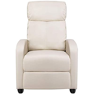 Yaheetech Recliner Chair Home Thether Seating Sofa Black/Brown/Gray/Beige