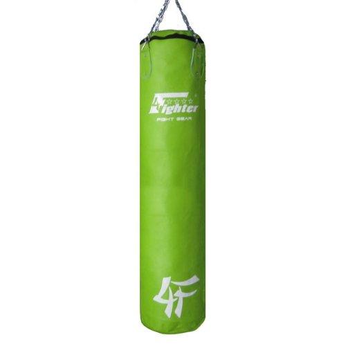 4Fighter Sacco per il pugilato / Sacchetto di sabbia - finta pelle, verde, vacanti, 180 x 35cm