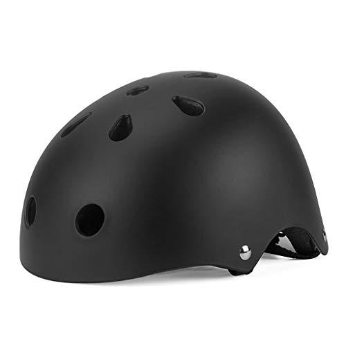 Pven Casco de bicicleta para niños, ajustable, multideporte, resistencia al impacto, ventilación y seguridad para ciclismo, patinaje, patinaje, patinaje (edad 5-10), color negro