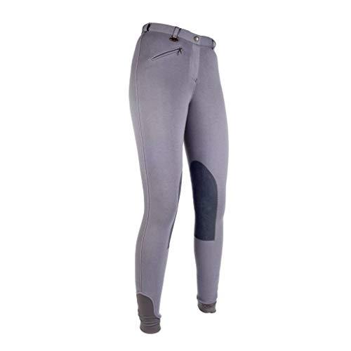 HKM Pantalon d'équitation pour Fille Pantalon de Penny Easy avec basanes - gris - 12 ans