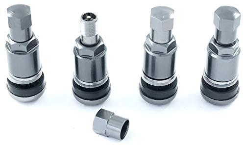 4 Stück 11,3mm Aluminium Alu Ventil Felgenventile Metall Ventil Anthrazit Leicht