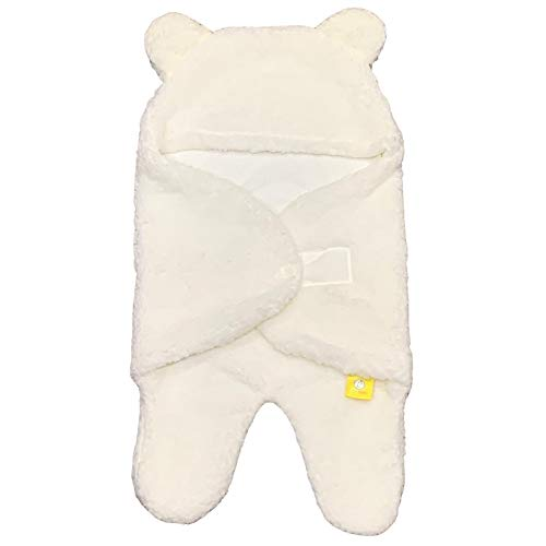 SmileyBubba Envoltura blanca | Elementos esenciales para bebé recién nacido niño o niña de 0 a 6 meses | Manta perfecta para cochecito y asiento de coche