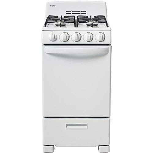 Danby 20-in. Gas Range with Sealed Burners, Electric Ignition and 2.3-Cu. Ft. Oven Capacity in White