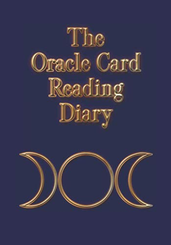 The Oracle Card Reading Diary: The Triple Goddes Moon Symbol on navy blue