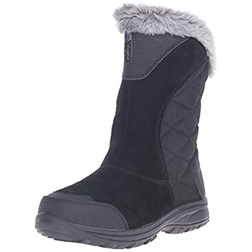 Columbia Women's Ice Maiden Ii Slip Snow Boot, Black, Shale, 10.5 B US