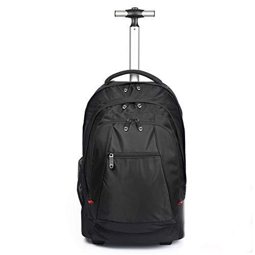 車輪型ビジネスノートパソコンバックパック、ノートパソコンの車輪付きバックパック、学校や大学のために15.6インチのノートパソコンのバックパック、ローリングラップトップバックパック
