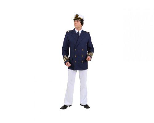 Admiral Jacke, Gr. 50/52, blau Kapitän Matrose Kostüm Jackett Marine Offizier Karneval