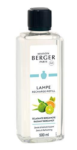 Lampe Berger 115341 Fragranza Bergamotto Radiante, Liquido, Argento, 7.8 x 5 x 18.5 cm