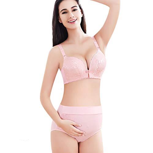 Ensemble de sous-vêtements pour femmes enceintes, boucle avant de sous-vêtements d'allaitement en coton, aucune trace de soutien-gorge anti-affaissement pour femme sous-vêtements de grande taille