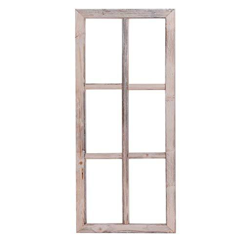 Nature by Kolibri Deko Fenster aus Holz, Fensterrahmen im Vintage Design, Bilderrahmen rechteckig 76 x 32 x 2 cm