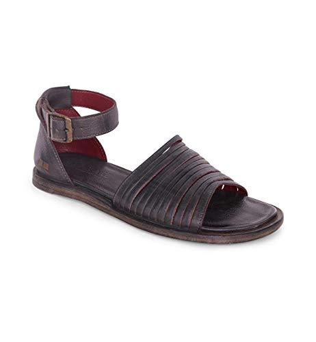 Bed|Stu Women's Lilia Leather Sandal (Black Rustic, Size 7.5)