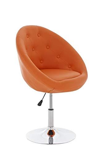 CLP Lounge-Drehsessel London Kunstleder I Höhenverstellbarer Clubsessel I Hochwertige Polsterung I, Farbe:orange
